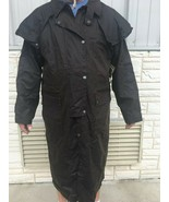 Outback Low Rider Duster Mens Coat Brown 100% Cotton Oilskin - $130.43