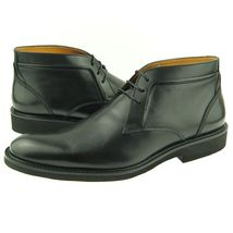 Black Color Premium Leather Men Party Wear Stylish Handmade Chukka Lace Up Boots image 2