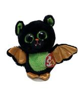 Ty Beanie Boos Beastie Halloween Bat Plush 6 Inch Green Glitter Eyes Soft Toy - $8.90