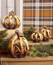 Lodge Inspired Woodland Antler Harvest Pumpkins Hunters Cabin Country De... - $17.59
