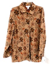 Bonnie & Norma  Barn Coat Jacket Brown Floral NWT $82 M Womens Floral Sp... - $29.99