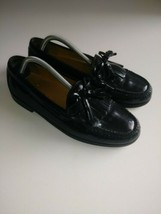Cole Haan Pinch Shawl Bow II Black Premium Leather Tassel Loafers 8.5  - $41.08