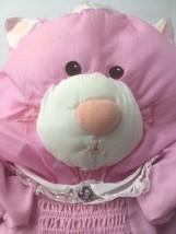 "Vtg Fisher Price Puffalump Pink White Cat With Dress Stuffed Plush  17"" ... - $24.26"