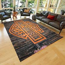 Harley Area Rug, Fan Rug, Teen's Carpet, Non Slip Floor Carpet 90x150 cm - $88.00