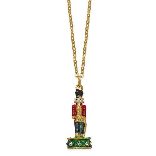 Bejeweled Crystal Enameled Toy Soldier Trinket Box