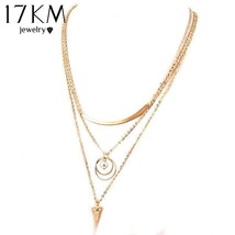 17KM® Punk Style Necklaces Women Fashion Simulated Pearl Multi Layer Cha... - $5.17