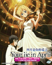 Your Lie In April Boxset (1-22 + OVA) + Live Movie English Ship from USA