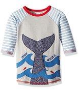 Mud Pie Boys' Baby Whale Tail Rashguard, Blue, XS (6-9M) - $25.47