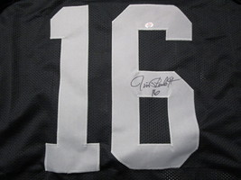 JIM PLUNKETT / AUTOGRAPHED OAKLAND RAIDERS BLACK CUSTOM FOOTBALL JERSEY / COA image 3