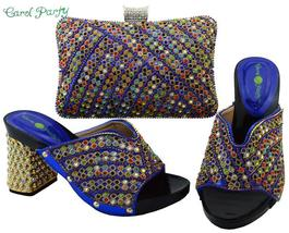 OLAMICH Shoes Bag Set Women Italian Matching Decorated with Rhinestone S... - $125.60