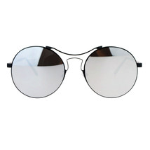 Almost Rimless Fashion Sunglasses Round Circle Flat Mirror Lens UV 400 - $10.75
