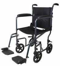 Carex Lightweight Transport Wheelchair - 19 Inch Seat - Folding Transpor... - $168.30