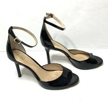 Women's Vince Camuto 'Calinas' Black Patent Leather Heeled Sandals Sz 7.5M - $45.00