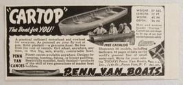 1949 Print Ad Penn Yan Cartop Outboard Boats Penn Yan,NY - $10.30