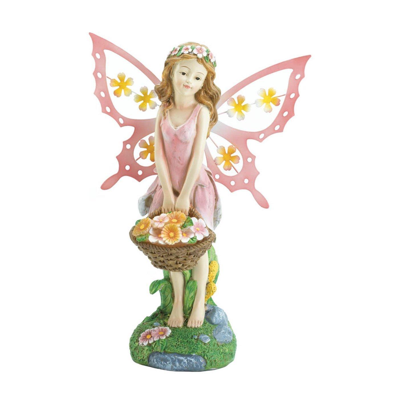 Pink Fairy Solar Garden Statue - $27.54