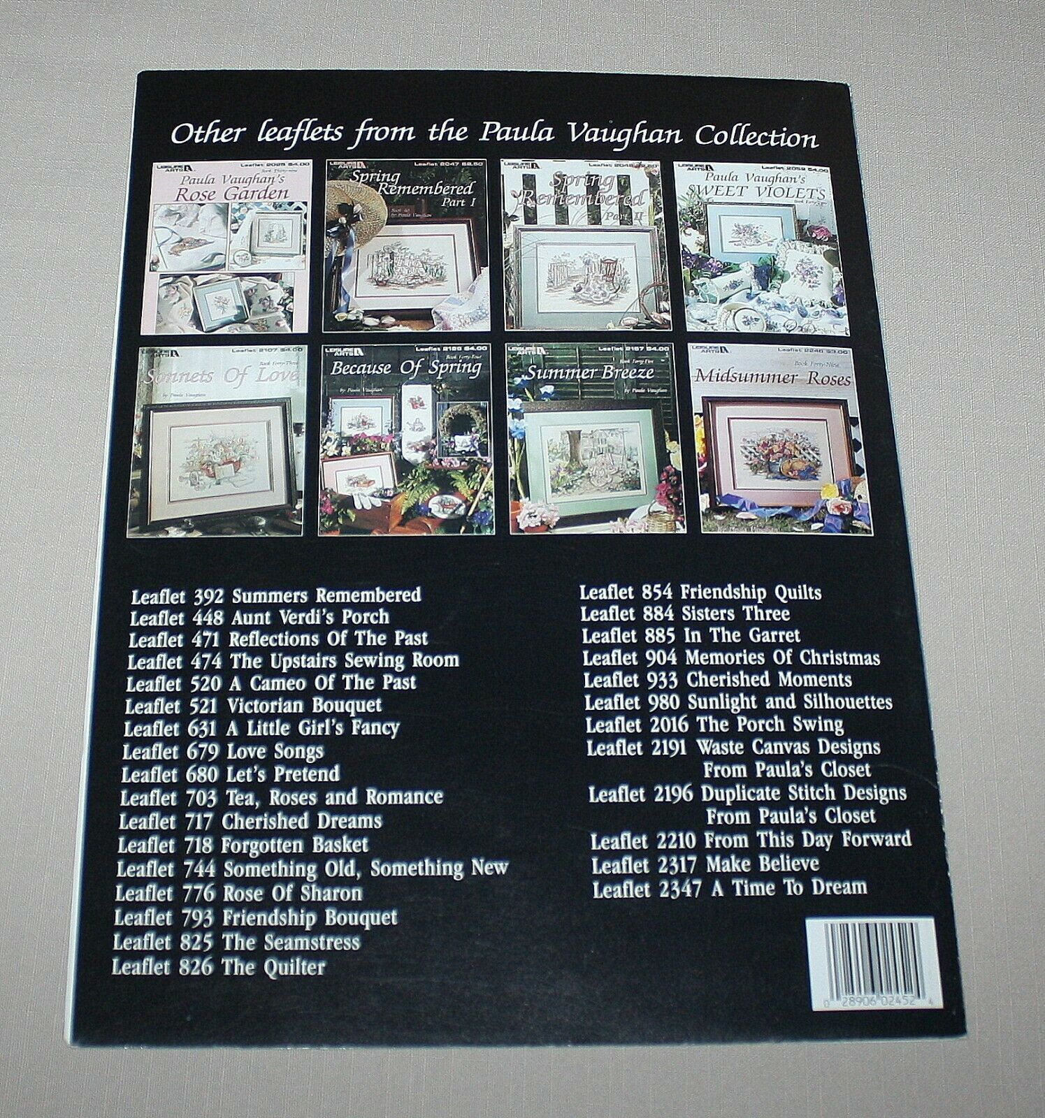 Garden Party Leisure Arts 2452 Cross Stitch Pattern Book 52 Paula Vaughan