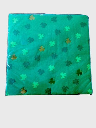 St Patrick's Day Irish Green Shamrock Paper Napkins Party Supplies 1 pack of 20