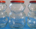 Vintage Kraft Glass Bear Storage Canisters
