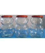 Vintage Kraft Glass Bear Storage Canisters - £13.76 GBP