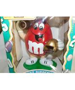 M Ms Sport Dispenser Red Football Player With Gold Helmet 1995 NIB 8 Inc... - $19.99