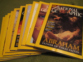 Original Vintage 2001 Lot of 10 NATIONAL GEOGRAPHIC Magazines - $16.37