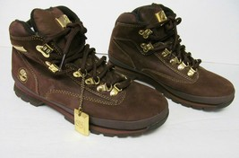 TIMBERLAND Special Edition Suede Leather Boots Gold Tone Hardware Brown ... - $89.95