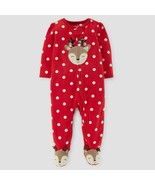 Just One You by Carter's Infant Girls Christmas Raindeer Blanket Sleeper... - $7.99