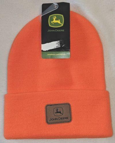 John Deere LP47343 Acrylic One Size Hunters Orange Cuffed Beanie