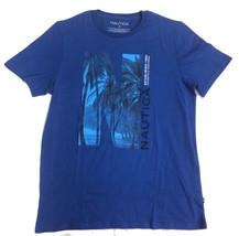 Nautica Men's Short Sleeve Signature Graphic T-Shirt, Monaco Blue, Large - $19.79