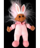 "RUSS Soft Body Troll Doll Pink Hair 8"" with Pink Outfit & White Bunny Ears - $19.79"