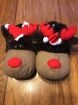 Christmas Moose Slippers Size Small Ships N 24h - $21.76