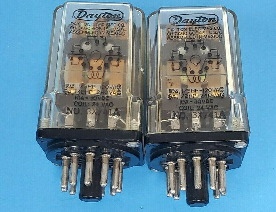 LOT OF 2 DAYTON 3X741A RELAYS 24VAC