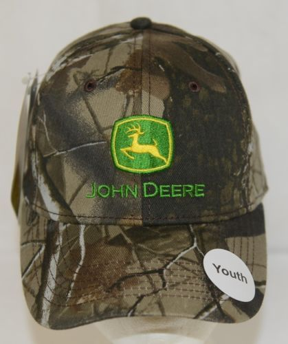 John Deere LP53213 Youth Size Realtree Hardwoods Camo Cap