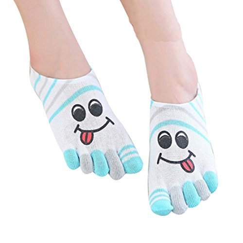 [A] Toe Socks Casual Socks Warm Socks Girl's Lovely Socks Cotton Crew Socks Gift