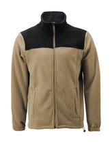 Men's Full Zip-Up Two Tone Solid Warm Polar Fleece Soft Collared Sweater Jacket image 5