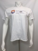 White Short Sleeve T Shirt Size Large Adult Now Foods University Port An... - $19.60