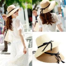NEW Sale Summer Wide Brim Beach Sun headdress Straw Floppy Elegant Bohemia Hat image 6