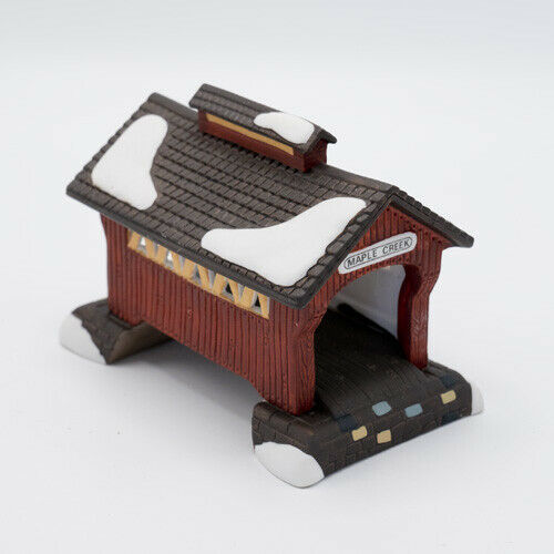 Dept 56 Red Covered Bridge 59870 Retired with Box Heritage Village Accessory - $15.95
