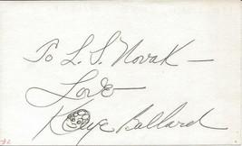 Kaye Ballard Signed 3x5 Index Card E - $24.74