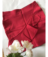Red Ruffle Mini Peplum Skirt - $15.05