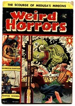 WEIRD HORRORS #5 comic book-Pre-code-1952-ST JOHN-RARE-SNAKE LIKE MONSTER - $98.36