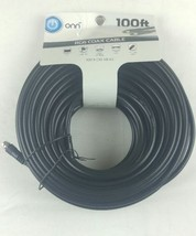 "RG6 Coax Cable 100 Ft Black ""F"" Type Jack Satellite Cable DVR TV  Brand ... - $10.39"