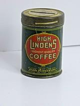 VINTAGE ADVERTISING HIGH LINDENS COFFEE PROMO COIN SAVINGS BANK - $39.60