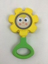 Flower Baby Rattle Toy Toddler Fisher Price Vintage 1973 Round Handle w ... - $14.80