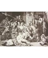 NUDE Arabs Capture European Women Dividing Spoil - Photogravure Antique ... - $16.20