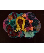 "Polymer clay, Mixed media wall art ""I am not this hair"" - $17.50"
