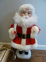 """Santa's Best Animated Santa with Light 24"""" Moves Light Back and Forth. C... - $42.56"""