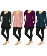Utopia Long Sleeve Legging Tee, Easy Fit, Extra Soft Feel - $9.97