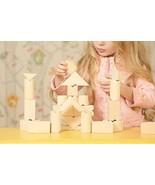 Safe Natural Building Blocks For Toddlers - Stacking Blocks For Kids Age... - $18.71