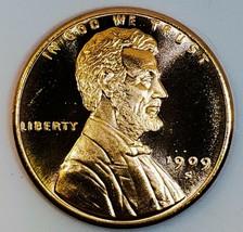 1909 S V.D.B   UNC  LINCOLN WHEAT CENT 1 OZ COPPER  # 206 image 1